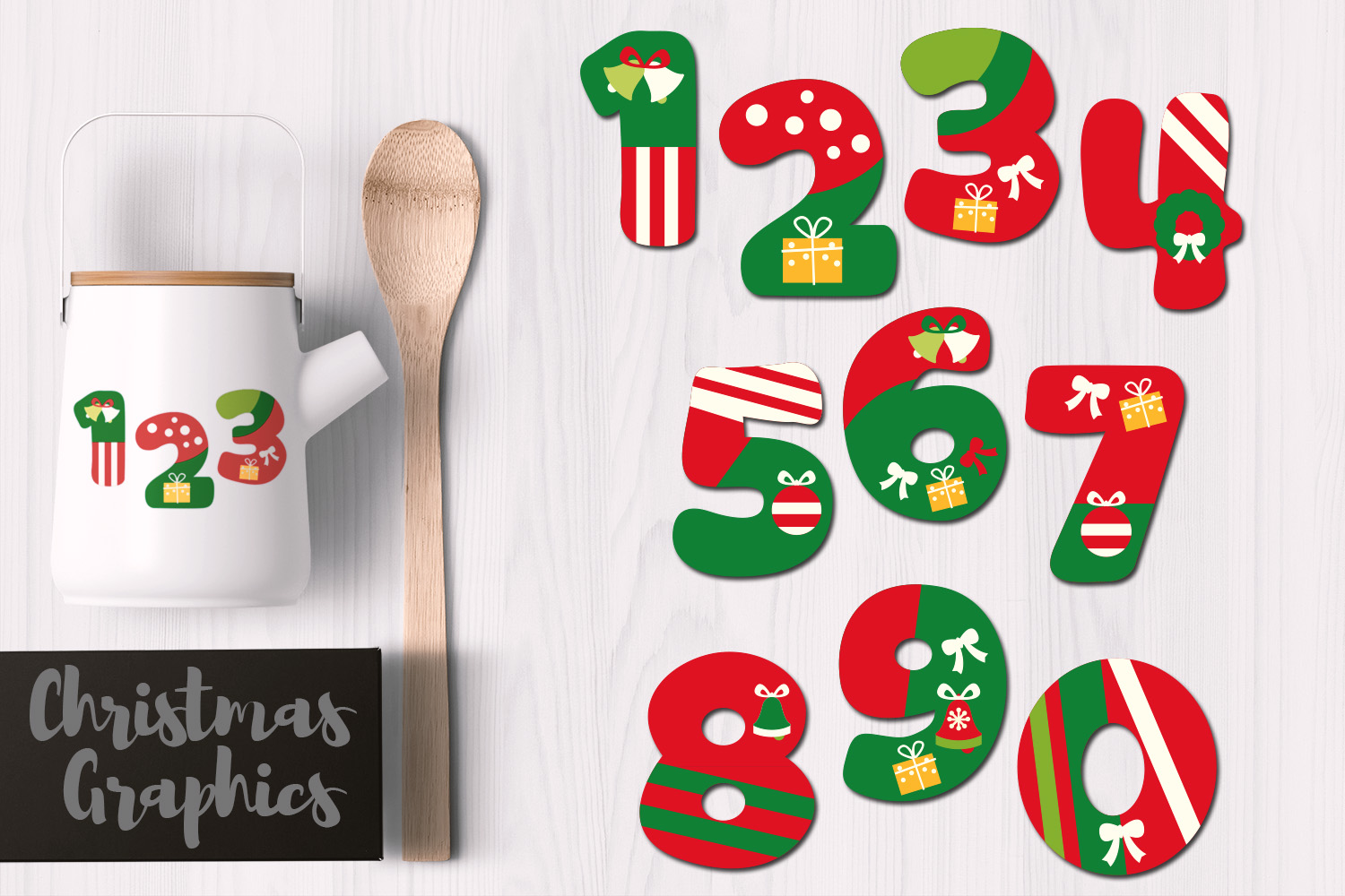 Christmas Numbers (Graphic) by Revidevi · Creative Fabrica