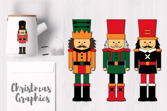 Print on Demand: Christmas Nutcrackers Graphic Illustrations By Revidevi