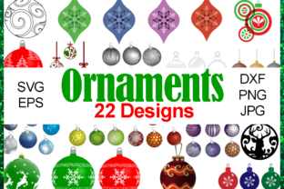 Download Free Christmas Ornaments Bundle Graphic By Quiet Deluxe Digital for Cricut Explore, Silhouette and other cutting machines.