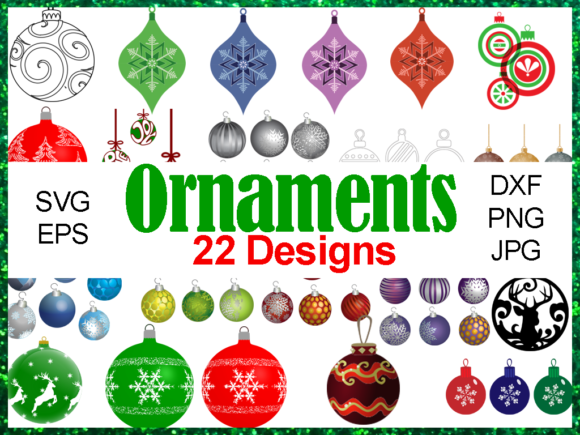 Print on Demand: Christmas Ornaments Bundle Graphic Illustrations By Quiet Deluxe Digital