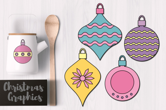 Print on Demand: Christmas Ornaments Pastel Graphic Illustrations By Revidevi