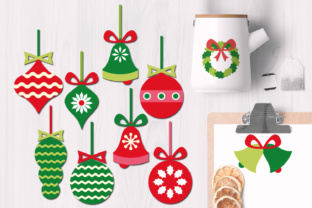 Christmas Ornaments, Wreath, Bells Graphics Graphic By Revidevi