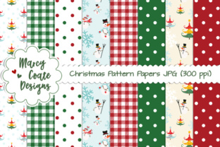 Christmas Pattern Backgrounds Graphic By MarcyCoateDesigns
