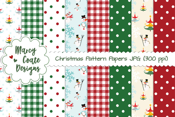 Download Free Christmas Pattern Backgrounds Graphic By Marcycoatedesigns for Cricut Explore, Silhouette and other cutting machines.