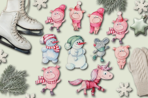 Christmas Pig Graphic By nicjulia Image 2