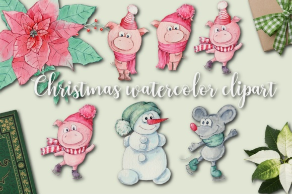 Christmas Pig Graphic By nicjulia Image 1