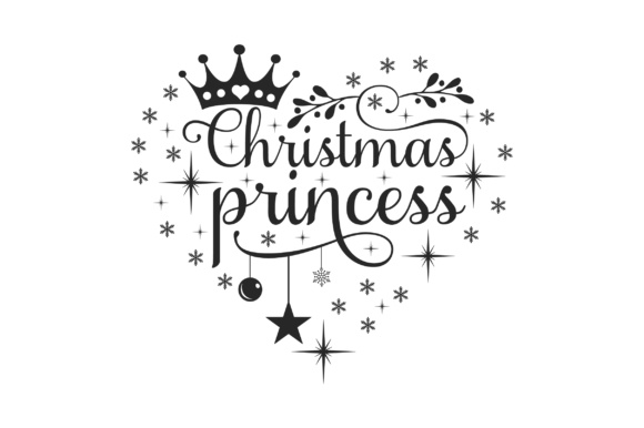 Christmas Princess Christmas Craft Cut File By Creative Fabrica Crafts - Image 2