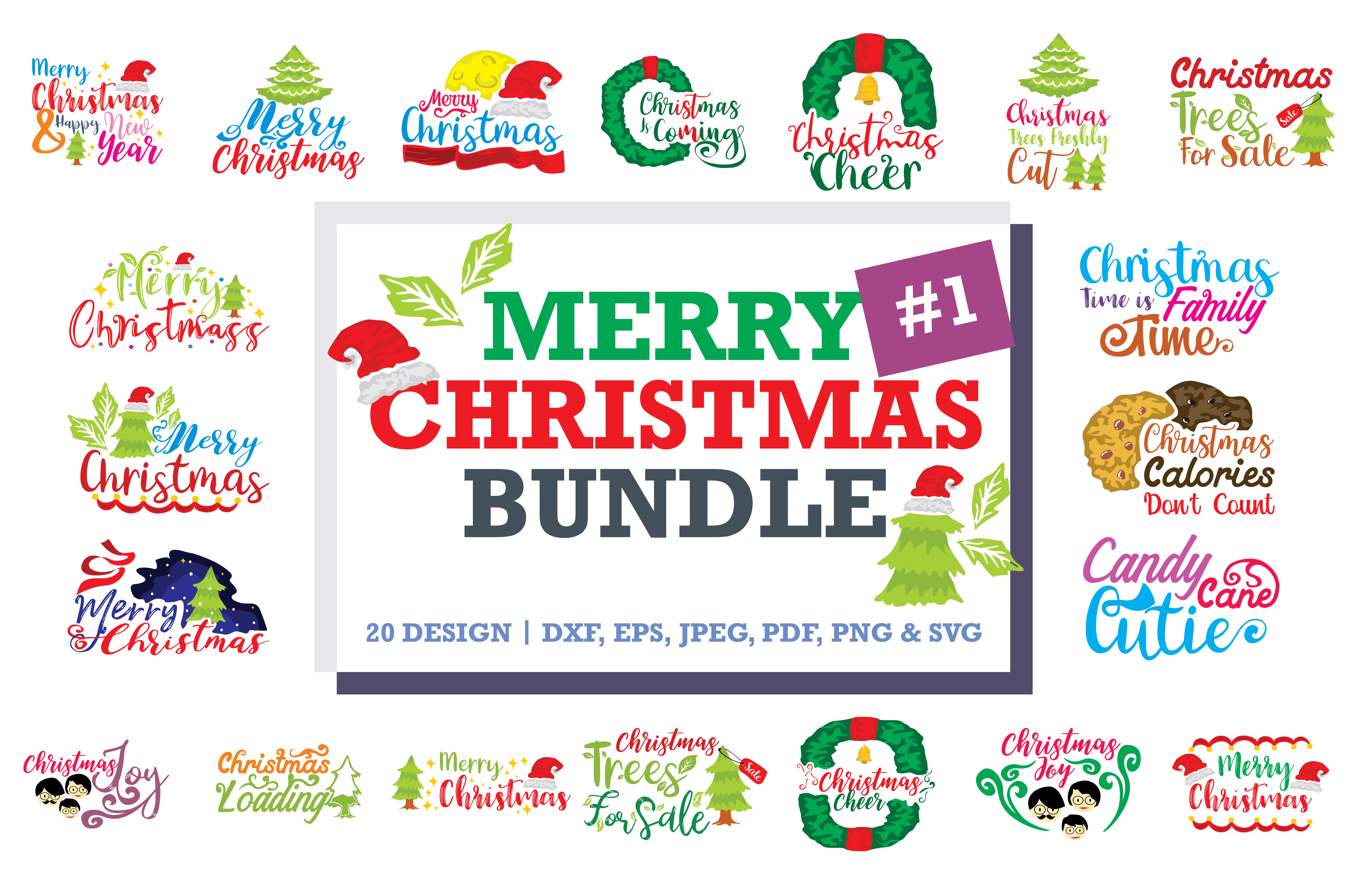 Download Free Christmas Quotes Bundle Graphic By Thelucky Creative Fabrica for Cricut Explore, Silhouette and other cutting machines.