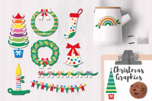 Christmas Rainbow Party Graphics Graphic By Revidevi