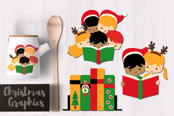 Print on Demand: Christmas Reading Graphic Illustrations By Revidevi