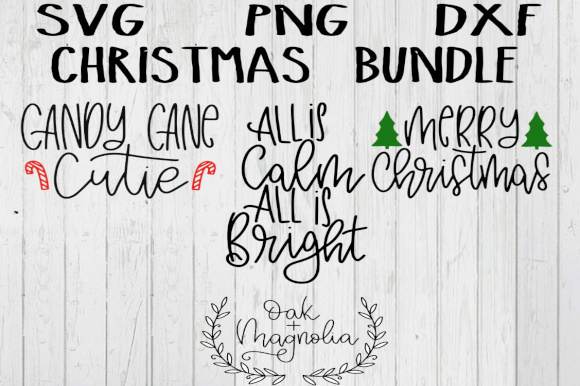 Download Free Christmas Bundle Graphic By Oakandmagnolia Creative Fabrica for Cricut Explore, Silhouette and other cutting machines.