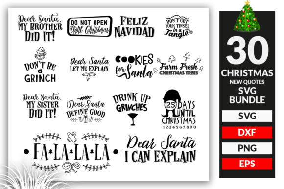 Download Free Christmas Design Bundle Graphic By Subornastudio Creative Fabrica for Cricut Explore, Silhouette and other cutting machines.
