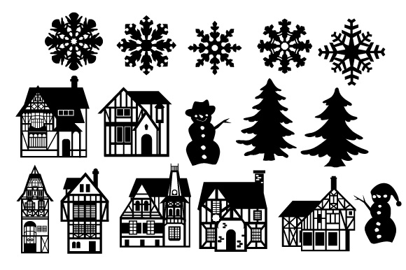 Christmas Scene Maker Craft Design Por Creative Fabrica Crafts