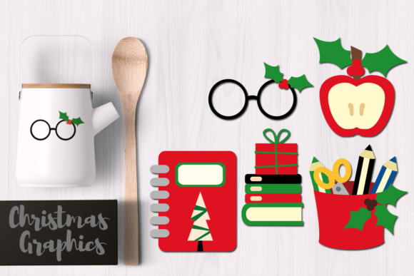 Print on Demand: Christmas School Graphic Illustrations By Revidevi