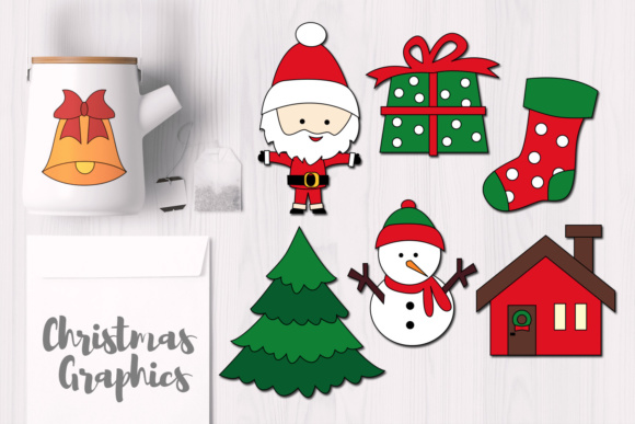 Print on Demand: Christmas Simple Objects Graphic Illustrations By Revidevi