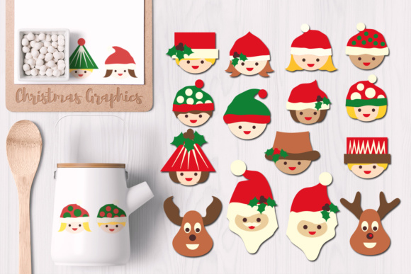 Print on Demand: Christmas Smile Graphic Illustrations By Revidevi