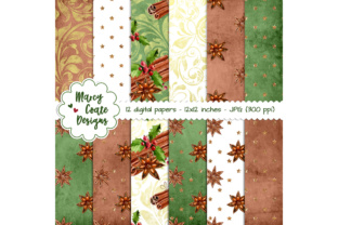 Christmas Spice Backgrounds Graphic By MarcyCoateDesigns