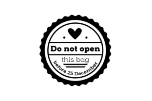 Christmas Stamp - Do Not Open Christmas Craft Cut File By Creative Fabrica Crafts
