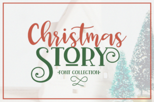 Print on Demand: Christmas Story Script & Handwritten Font By Pasha Larin