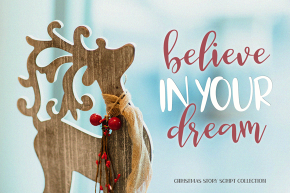 Christmas Story Font By Pasha Larin Creative Fabrica