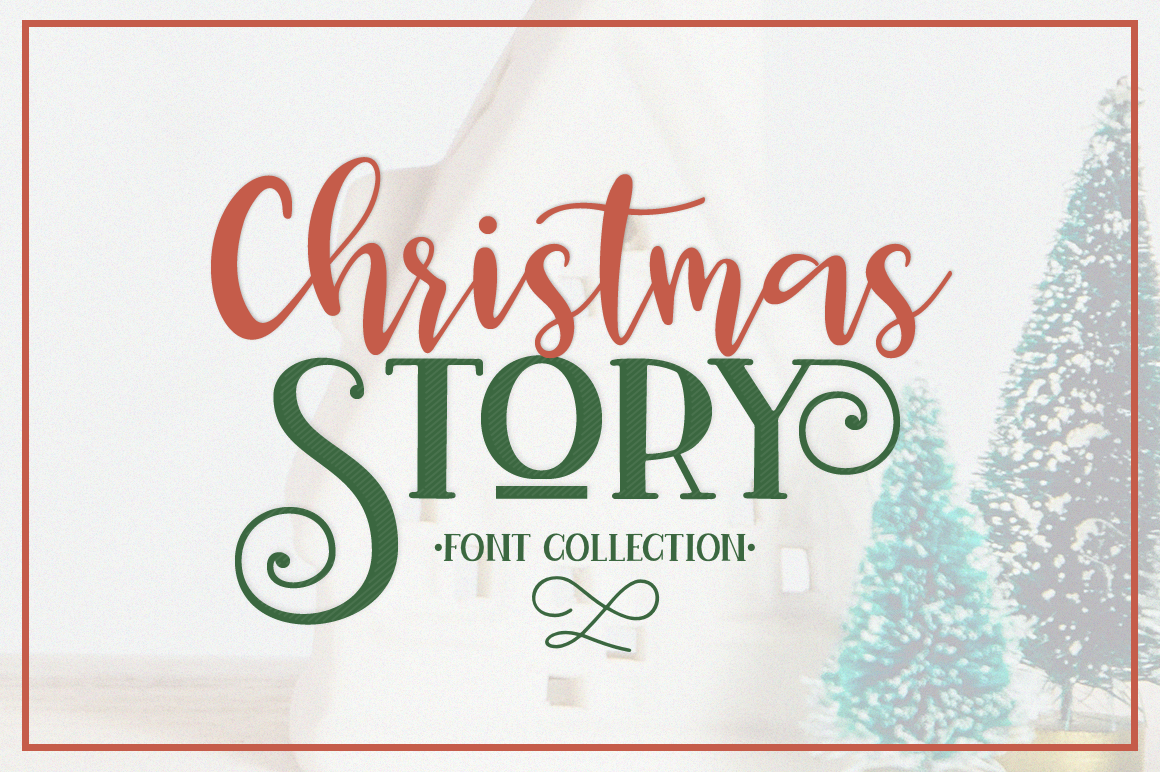 Download Free Christmas Story Font By Pasha Larin Creative Fabrica for Cricut Explore, Silhouette and other cutting machines.