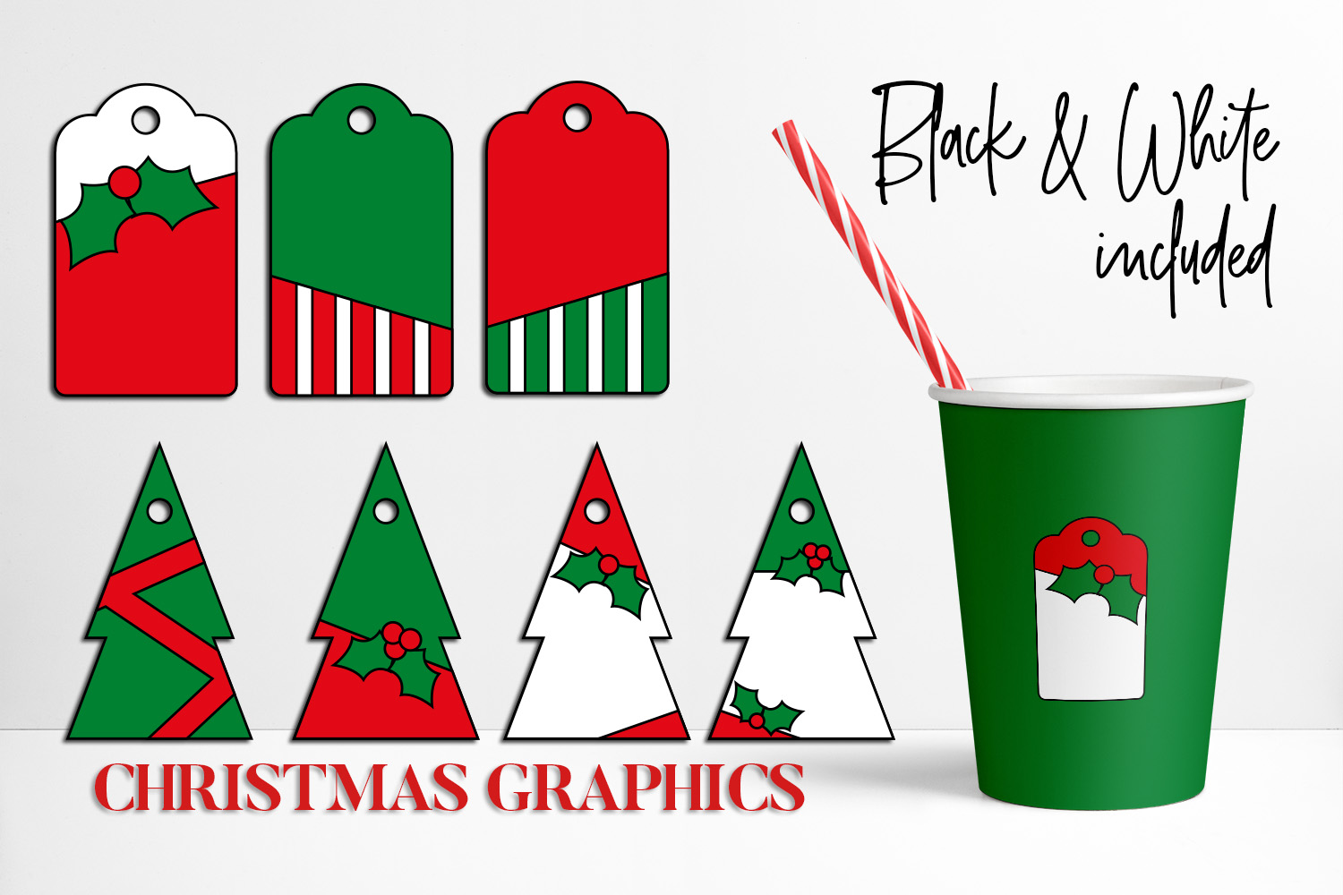Download Free Christmas Tags Graphic By Darrakadisha Creative Fabrica for Cricut Explore, Silhouette and other cutting machines.