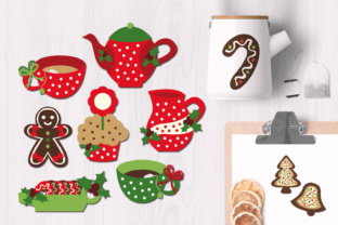 Christmas Tea Party with Gingerbread Cookies Graphic By Revidevi