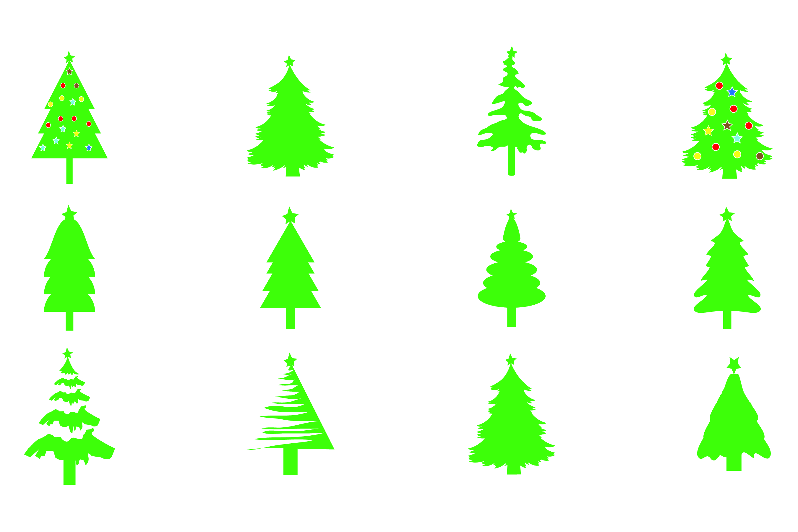 Download Free Christmas Tree Bundle 12 Graphic By Bluestar Creatives SVG Cut Files
