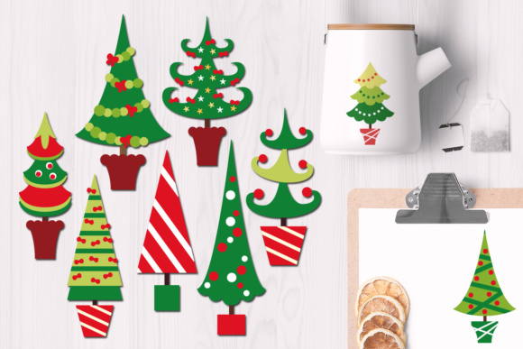 Print on Demand: Christmas Tree Graphics Graphic Illustrations By Revidevi