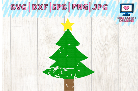 Download Free Christmas Tree Graphic By Digitalistdesigns Creative Fabrica for Cricut Explore, Silhouette and other cutting machines.