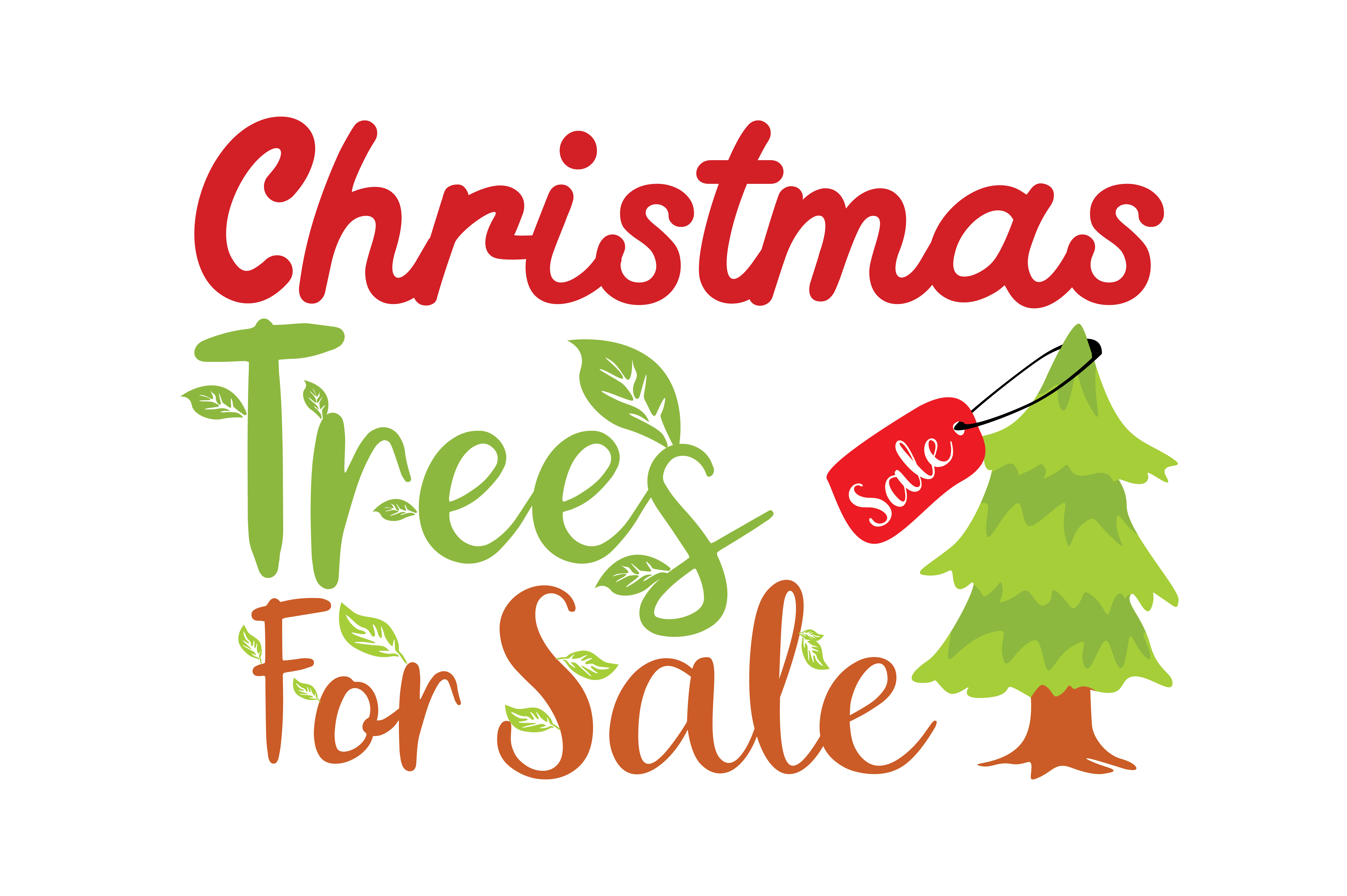 Download Free Christmas Trees For Sale Graphic By Thelucky Creative Fabrica for Cricut Explore, Silhouette and other cutting machines.