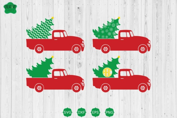 Christmas Truck with Tree Svg Graphic Crafts By creativespace