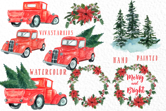 Download Free Christmas Truck Clipart Graphic By Vivastarkids Creative Fabrica for Cricut Explore, Silhouette and other cutting machines.