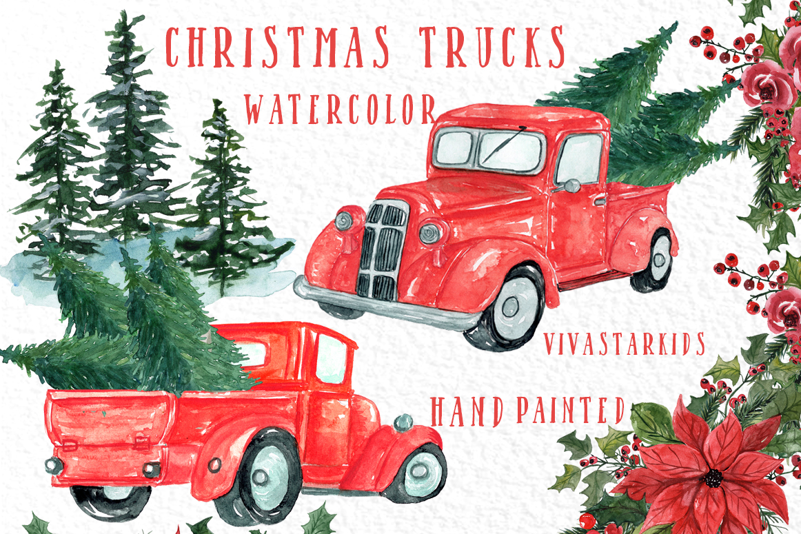 Download Free Christmas Truck Clipart Graphic By Vivastarkids Creative Fabrica SVG Cut Files