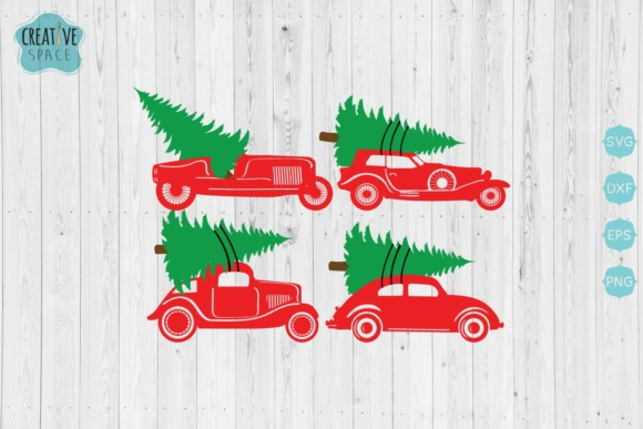 Christmas Trucks & Cars Bundle Graphic Crafts By creativespace - Image 4