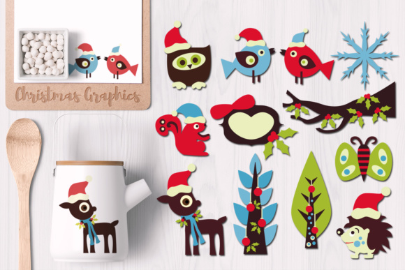 Print on Demand: Christmas Woodland Graphic Illustrations By Revidevi