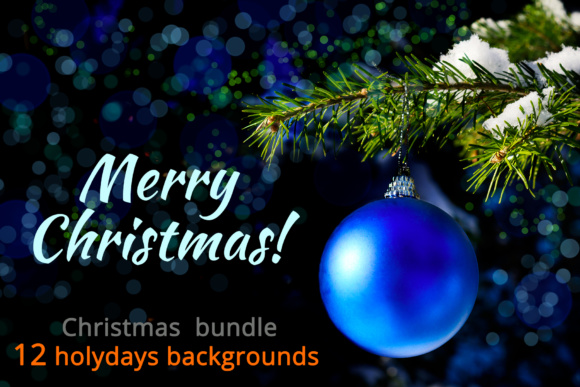 Print on Demand: Christmas Backgrounds Bundle. Graphic Holidays By TasiPas