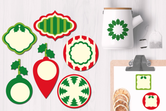 Print on Demand: Christmas Frames and Tags Graphics Graphic Illustrations By Revidevi