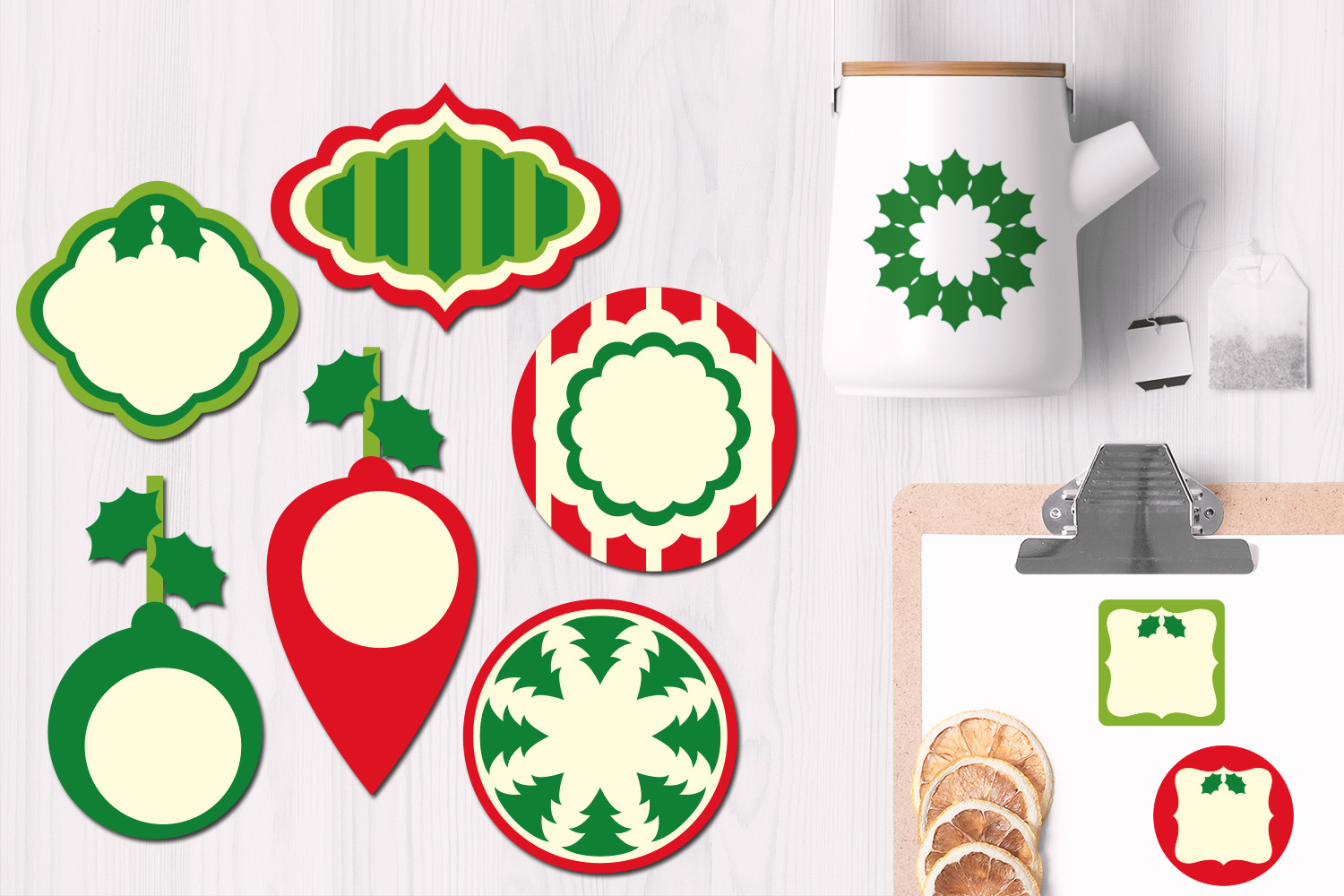 Download Free Christmas Frames And Tags Graphics Graphic By Revidevi for Cricut Explore, Silhouette and other cutting machines.