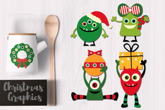 Print on Demand: Christmas Monsters Graphic Illustrations By Revidevi