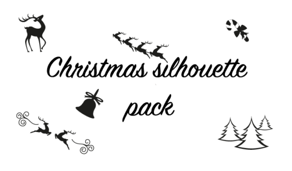 Christmas Silhouette Pack Graphic Objects By hamelinckmichael