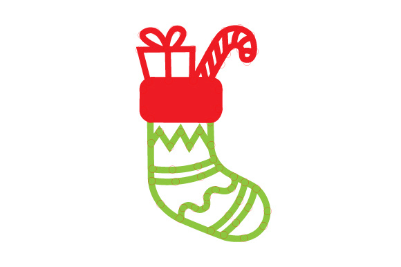 Christmas Stocking Outline Design Craft Design By Creative Fabrica Crafts