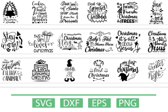 Download Free Christmas Bundle Graphic By Design Vault Creative Fabrica for Cricut Explore, Silhouette and other cutting machines.