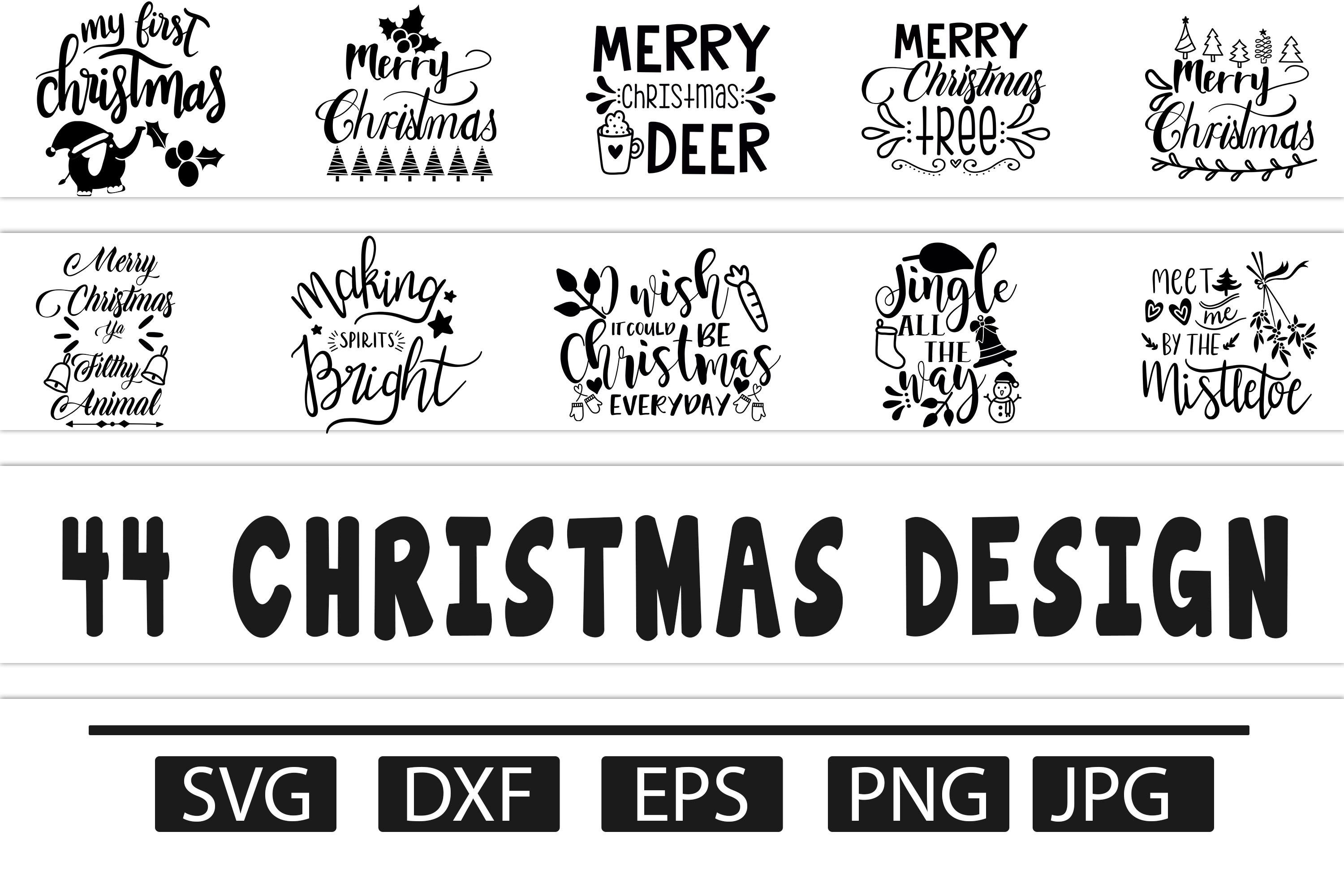 Download Free Christmas Bundle Graphic By Design Vault Creative Fabrica SVG Cut Files