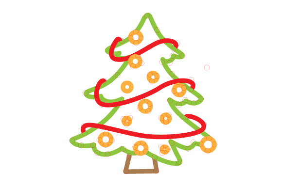 Download Free Christmas Tree Outline Design Svg Cut File By Creative Fabrica SVG Cut Files