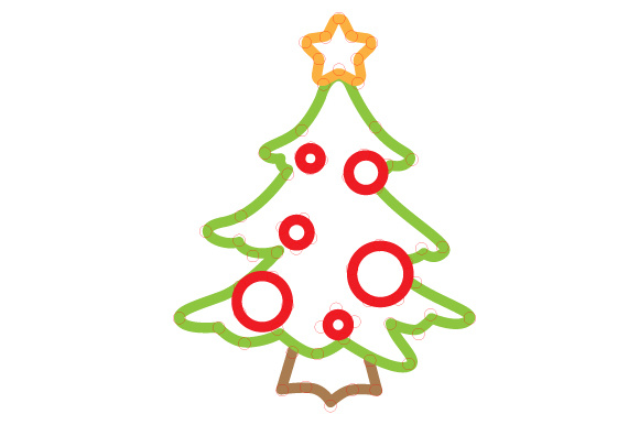 Christmas Tree Outline Design Svg Cut File By Creative Fabrica
