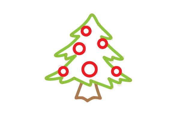 Christmas Tree Outline Design Craft Design By Creative Fabrica Crafts Image 1