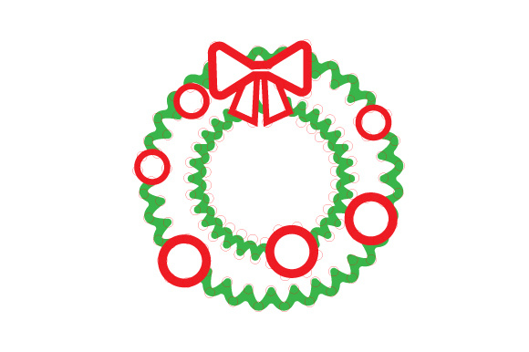Download Free Christmas Wreath Outline Design Svg Cut File By Creative Fabrica for Cricut Explore, Silhouette and other cutting machines.