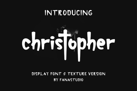 Print on Demand: Christopher Display Font By fanastudio