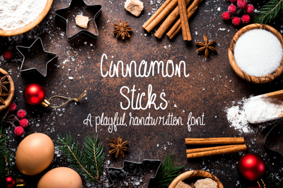 Print on Demand: Cinnamon Sticks Script & Handwritten Font By amber_nest
